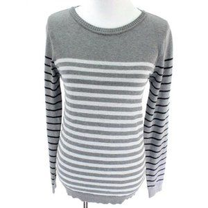 Energie Womens Sweater Meduim Gray Junior Striped